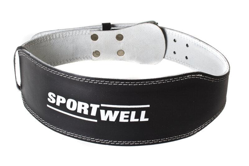 Кожаный ремень для культуристов Sport Well цена и информация   Fitnesstooted   kaup24.ee