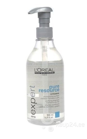 Šampoon L'Oreal Professionnel Paris Serie Expert Pure Resource 500 ml цена и информация | Šampoonid | kaup24.ee