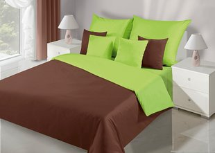 Voodipesukomplekt 3-osaline NOVA Collection Brown Green, 200x200 cm