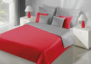 Voodipesukomplekt 2-osaline NOVA Collection Red Silver, 135x200 cm