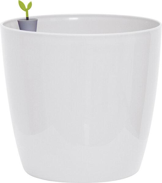 Lillepott Verve Plus, valge цена и информация | Dekoratiivsed lillepotid | kaup24.ee