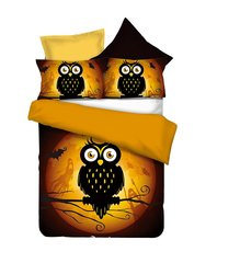 Voodipesukomplekt 2-osaline Owls collections Ghost Story, 155x220 cm