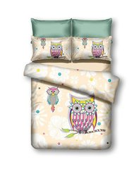 Voodipesukomplekt 2-osaline Owls collections Summer Story, 135x200 cm