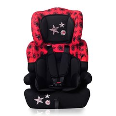 Автокресло Lorelli Kiddy 9-36 кг, black/red stars