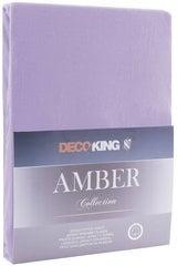 Kummiga voodilina DecoKing jersey Amber Violet 160x200 cm