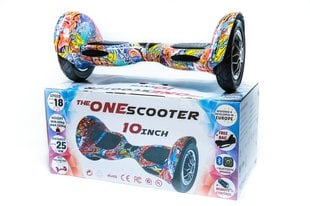 "Tasakaaluliikur Hoverboard 10"" Orange Graffiti Bluetooth"