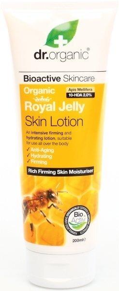 Dr.Organic Лосьон для тела с органическим молочком матки пчел Перу, 200 мл цена и информация | Kreemid ja ihupiimad | kaup24.ee