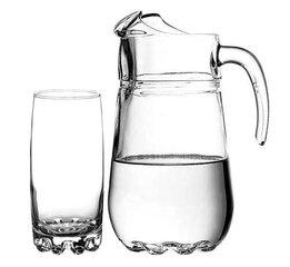 Kann klaasidega SYLVANA, 1,35 L, 390 ml, 7 tk
