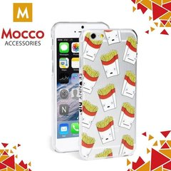 Kaitseümbris Mocco Cartoon Eyes French Fries Back Case Silicone Case With Eyes for iPhone 7