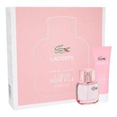 Komplekt Lacoste Eau de Lacoste L.12.12 Sparkling: EDT naistele 30 ml + dušigeel 50 ml