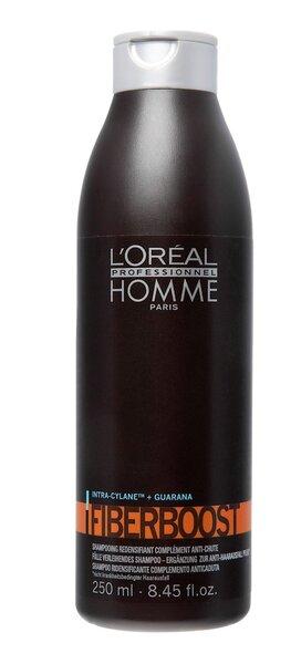 Tihendav šampoon meestele L'Oreal Professionnel Paris Homme Fiberboost 250 ml цена и информация | Šampoonid | kaup24.ee