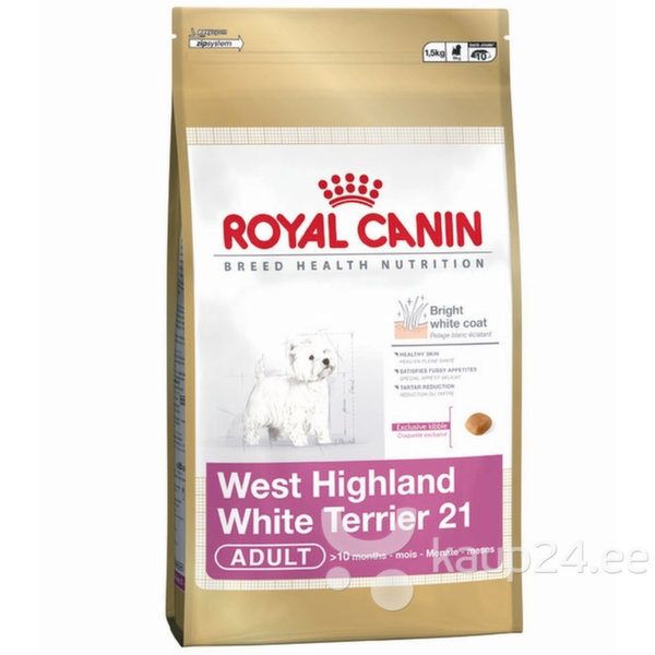 Koeratoit Royal Canin West Highland White Terrier 21 3 kg цена и информация | Kuivtoit koertele | kaup24.ee