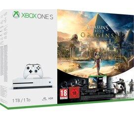 Mängukonsool Microsoft Xbox ONE S 1TB + Assassins Creed Syndicate + Tom Clancys Rainbow Six Siege