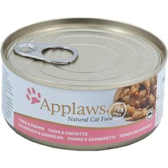 Applaws Cat Tuna Fillet with Prawn, 156 g