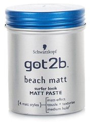 Modelleeriv matt juuksepasta Schwarzkopf Got2b Beach Boy 100 ml