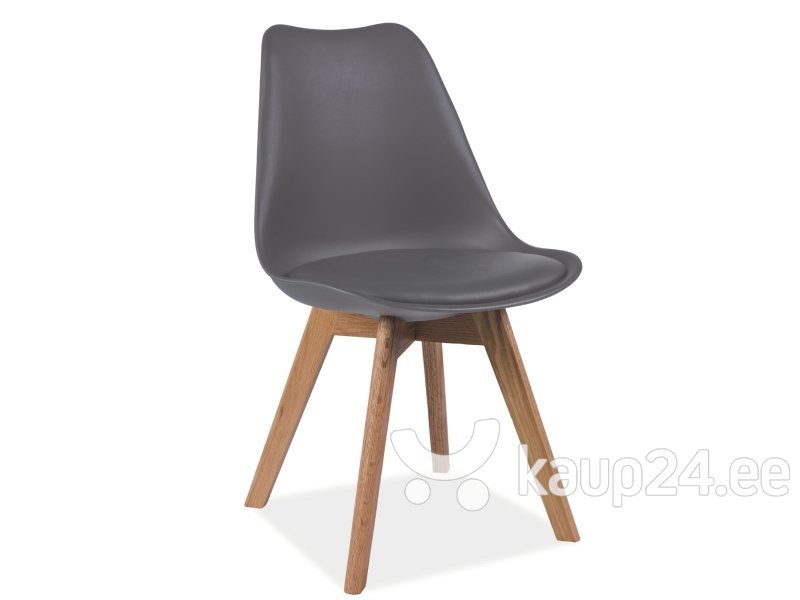 Комплект из 4 стульев Kris, серый/дуб