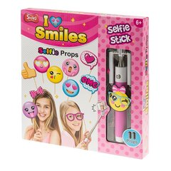 Laste SelfieStick tarvikutega Smiki, roosa