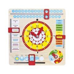 Puidust kell ja kalender hind ja info | Arendavad mänguasjad 3+ | kaup24.ee