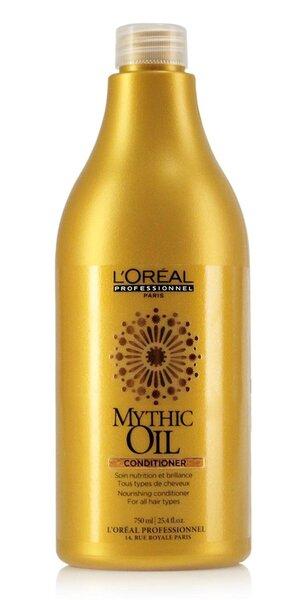 Toitev juukse konditsioneer L'Oreal Professionnel Paris Mythic Oil 750 ml цена и информация | Juuksepalsamid | kaup24.ee