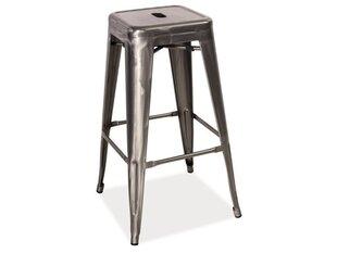 Комплект из 4 барных стульев Long, полированная сталь