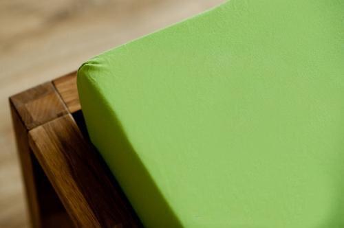 Froteevoodilina kummiga, roheline цена и информация | Voodilinad | kaup24.ee