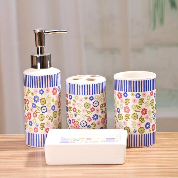 Комплект керамических аксессуаров для ванной комнаты Benedomo цена и информация | Vannitoa sisustuselemendid ja aksessuaarid | kaup24.ee