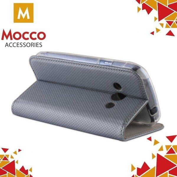 Telefoni ümbrisMocco Smart Magnet Book Case, sobib Samsung J710 Galaxy J7 (2016) telefonile, hõbedane tagasiside