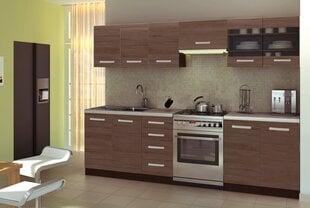 Köögikapi komplekt Halmar Amanda, pruun hind ja info | Köögimööbli komplektid | kaup24.ee