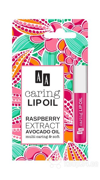 Huuleõli AA Caring Lip Oil Raspberry Extract Avocado Oil 6 ml