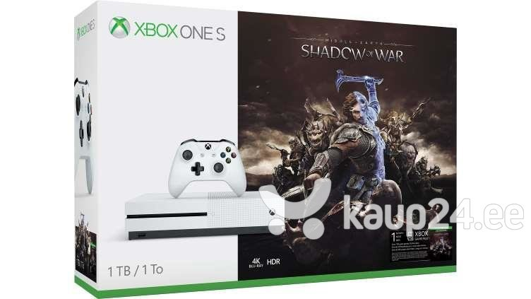 Mängukonsool Microsoft Xbox One S 1TB + SHADOW OF WAR