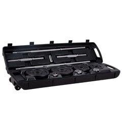 Комплект весов в чемодане inSPORTline, 50 кг цена и информация | Гантели, диски, грифы | kaup24.ee