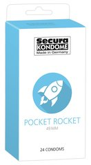 Kondoomid Secura Pocket Rocket 49 mm, 24 tk