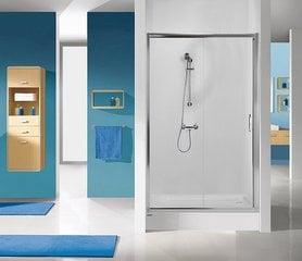 Dušikabiini uks niššile Sanplast TX D2/TX5b 90s, profiil läikiv hõbedane, kaunistatud klaas grey hind ja info | Dušikabiinide uksed ja seinad | kaup24.ee
