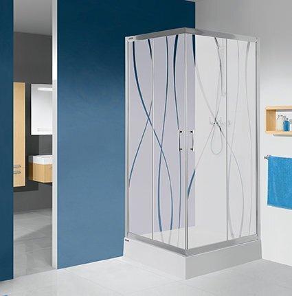 Угловая душевая кабина Sanplast TX KN/TX5b 90x100s, профиль блестящее серебро, стекло W0 цена