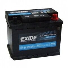 Aku EXIDE EK600 AGM 60Ah 680A AGM hind ja info | Akud | kaup24.ee