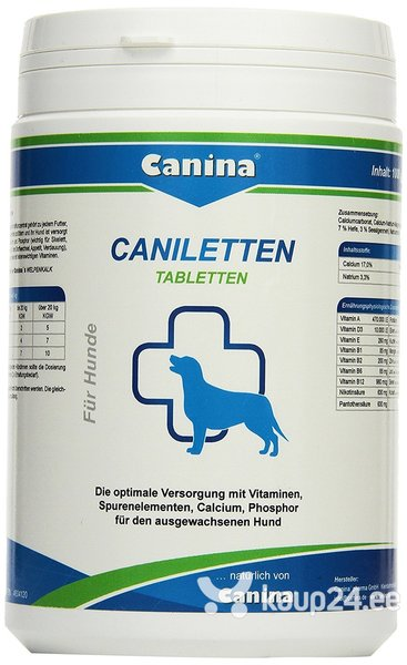 Tabletid Canina Canilleten N500, 1000 g