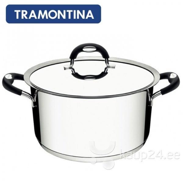 Кастрюля Tramontina DUO SILICONE, 3,6 л цена и информация | Potid ja kiirkeedupotid | kaup24.ee