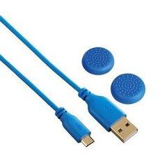 Laadija Hama 00115474 sobib Sony Playstation 4 + kaaned, 3m, sinine