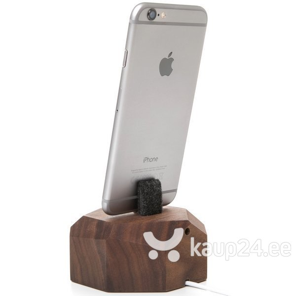 Laadimisjaam Woodcessories eco182 sobib Apple iPhone 6 / 7 / 8 / X, tume