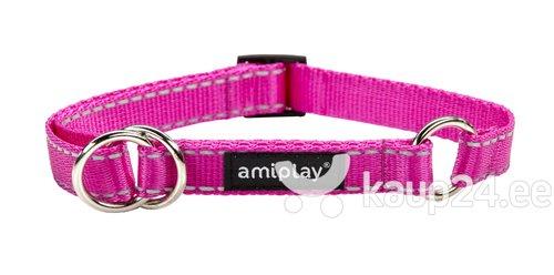 Poolpoov kaelarihm Amiplay Reflective, XL, roosa