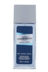 Spreideodorant Enrique Iglesias Deeply Yours meestele 75 ml hind ja info | Lõhnastatud kosmeetika meestele | kaup24.ee