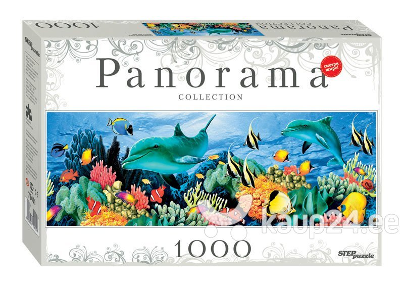 Pusle Step Puzzle Panoraam Veealune maailm, 100 detaili