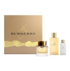 Komplekt Burberry My Burberry: EDP naistele 50 ml + ihupiim 75 ml + dušigeel 240 ml