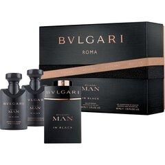 Komplekt Bvlgari Man In Black: EDP meestele 60 ml + raseerimisjärgne palsam 40 ml + dušieel 40 ml