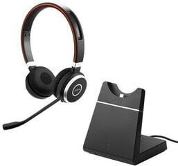 Kõrvaklapid Bluetooth Jabra Evolve 65MS (6599-823-399), Bluetooth 4.0, must/punane