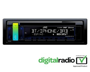 Autoraadio JVC, KD-DB98BT CD/USB MP3/WMA AUX sisendiga
