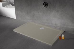 Dušialus Sanplast Space Mineral B-M/Space 75x100x1,5 värv hall asfalt hind ja info | Dušialused | kaup24.ee