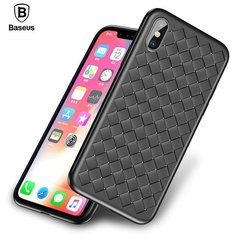 Baseus Weaving Impact silikoonist tagus telefonile Apple iPhone X, must
