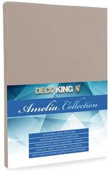 Kummiga voodilina DecoKing Jersey Amelia Collection, 90x200 cm, cappuccino