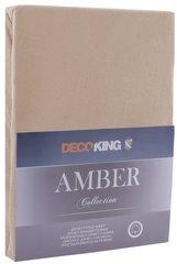 Kummiga voodilina DecoKing jersey Amber Cappuccino, 160x200 cm, pruun hind ja info | Voodilinad | kaup24.ee